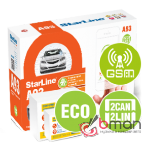 Сигнализация StarLine A93 2CAN+2LIN GSM-GPS ECO
