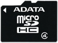 Флэш карта Micro SD 16Gb A-DATA Class 4 с адаптером USB